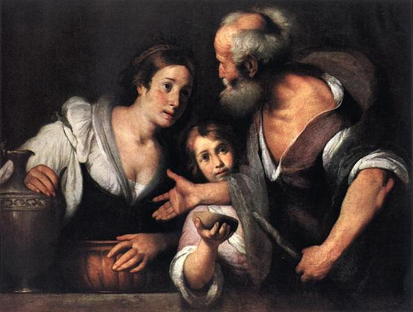 Bernardo Strozzi, Elijah and the Widow of Zarephath, Kunsthistorisches Museum, Vienna, 1630s